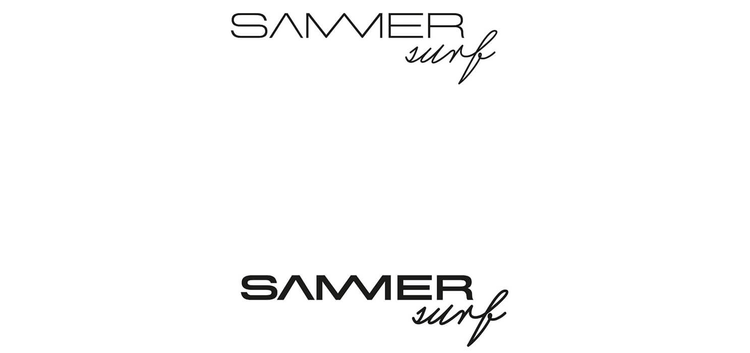 sammersurf, Branding, SUP, Fanatic, surfen, Logo, Image, Chris Sammer, Corporate Design, Folder, Magazin, Editorialdesign, Typografiess