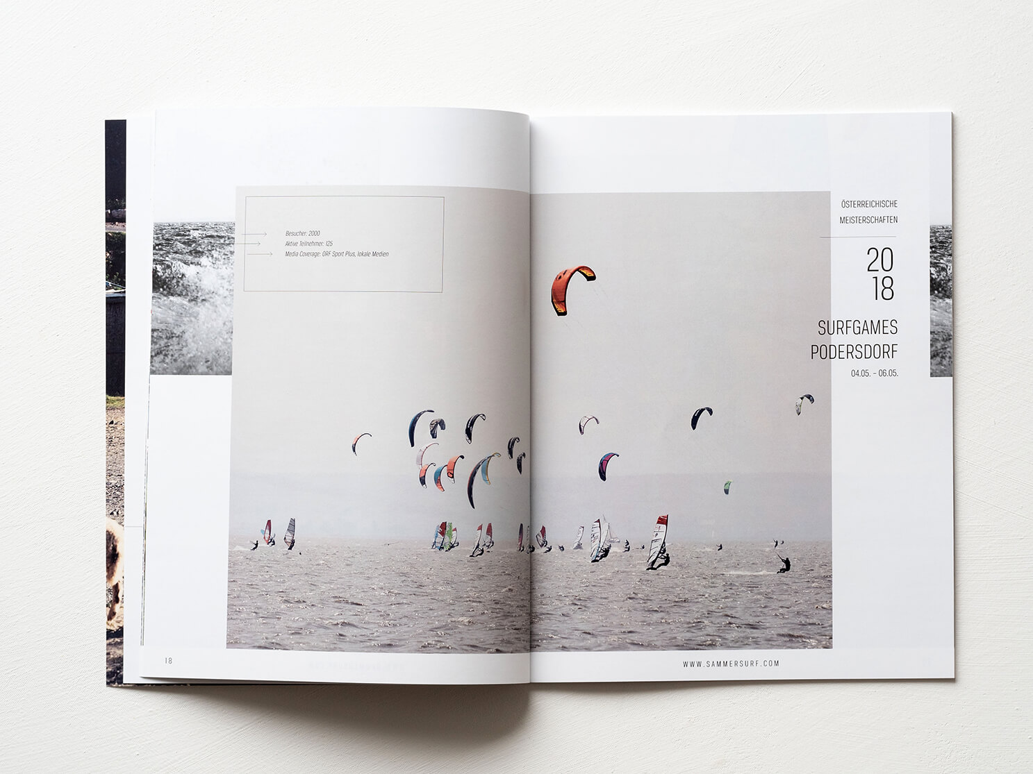 sammersurf, Branding, SUP, surfen, Kite, Chris Sammer, Corporate Design, Folder, Magazin, Editorialdesign, Typografie