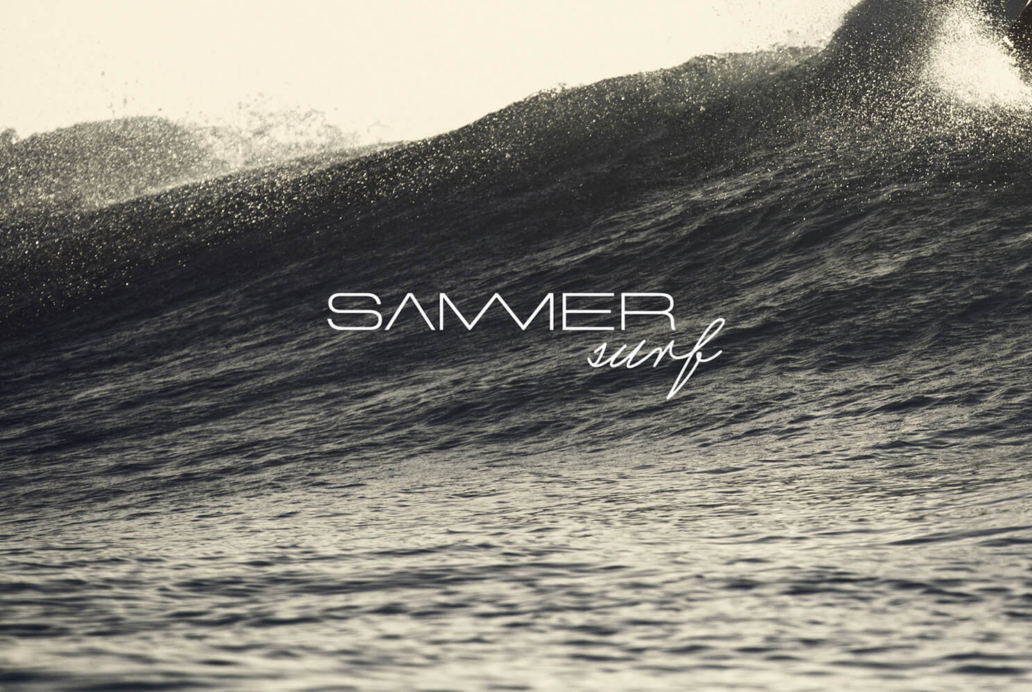sammersurf, Branding, SUP, Fanatic, surfen, Logo, Image, Chris Sammer, Corporate Design, Folder, Magazin, Editorialdesign, Typografies