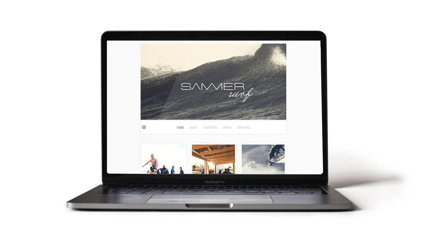 sammersurf, Branding, SUP, Fanatic, surfen, Website, Chris Sammer, Corporate Design, Folder, Magazin, Editorialdesign, Typografie